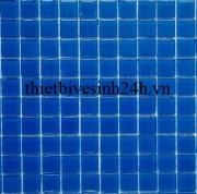 Gạch mosaic thủy tinh đơn màu 25x25x4